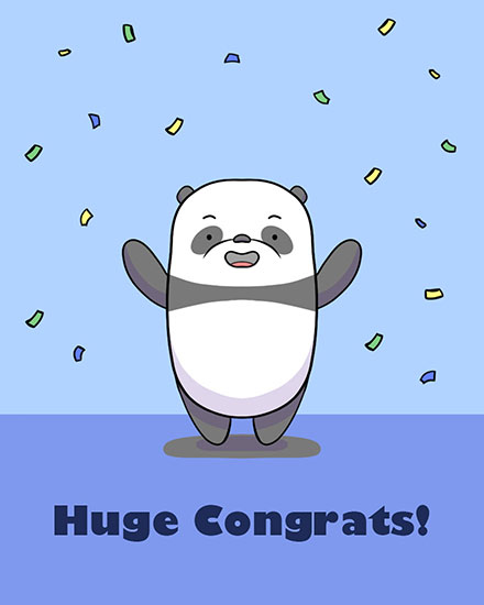congratulations card huge congrats panda