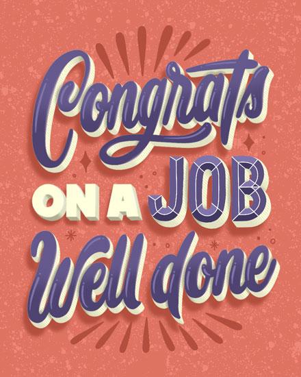 congratulations card congrats on a job well done