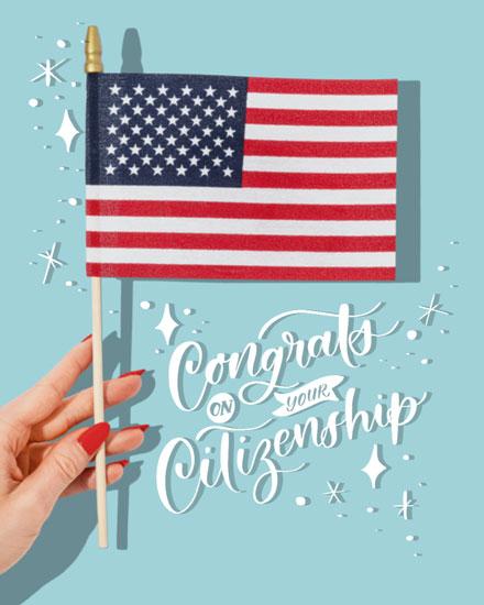 congratulations card congrats on your citizenship