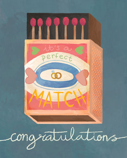 congratulations card matchbox its a perfect match