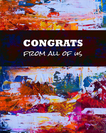 congratulations card modern art
