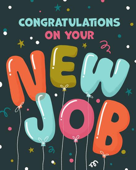 congratulations card congratulations on your new job