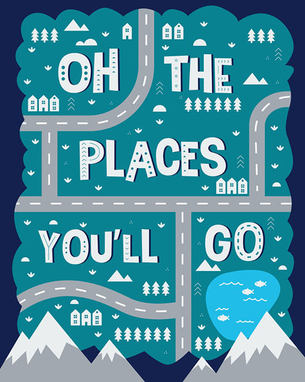 graduation card oh the places youll go