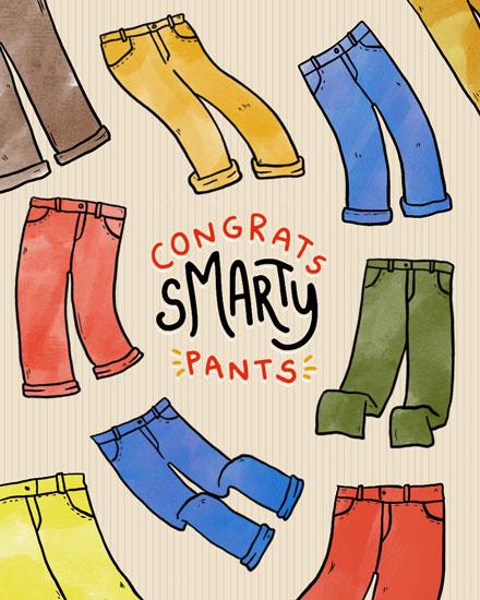 graduation card congrats smarty pants