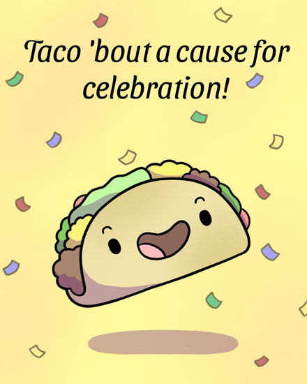 congratulations card taco bout cause for celebration