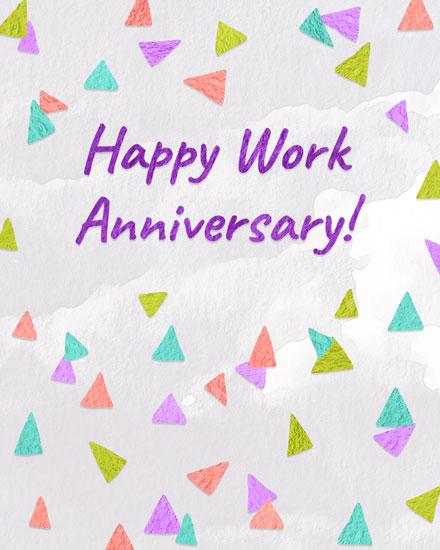congratulations card triangle confetti anniversary
