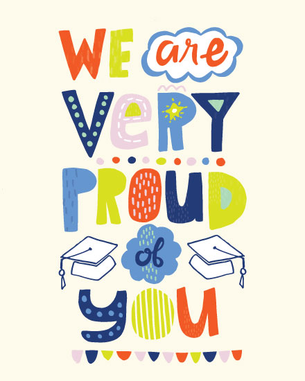 graduation card we are very proud of you