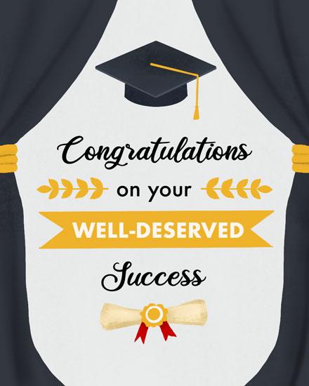 graduation card well deserved success