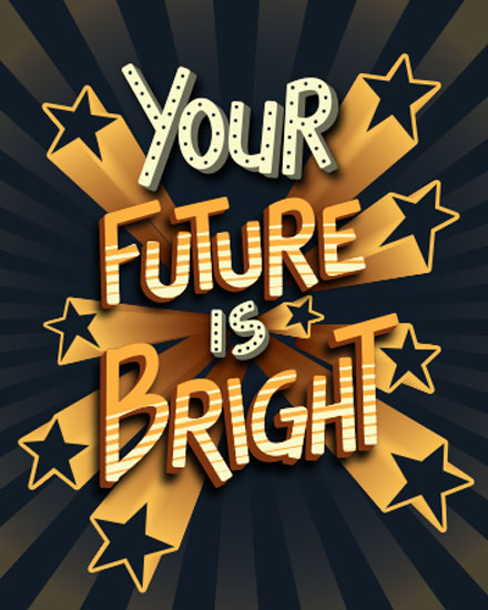 graduation card your future is bright