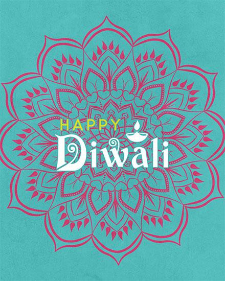 diwali card happy diwali mandala