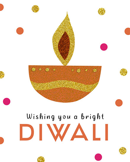 diwali card wishing you a bright diwali candle