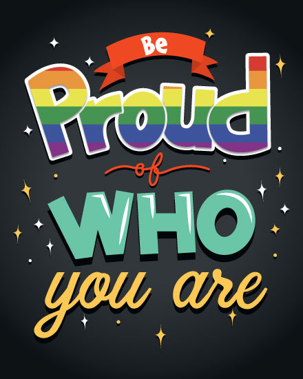 encouragement card be proud of who you are