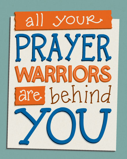 encouragement card prayer warriors