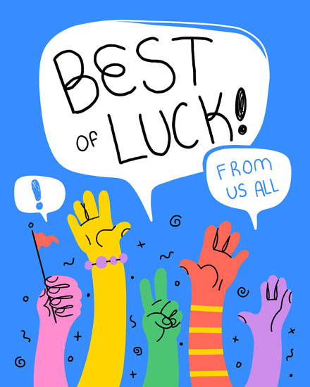 farewell card best of luck from us all