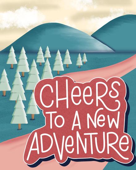farewell card cheers mountain adventure