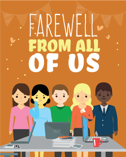farewell card coworkers