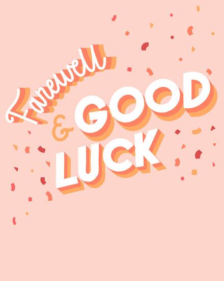 farewell card farewell and good luck