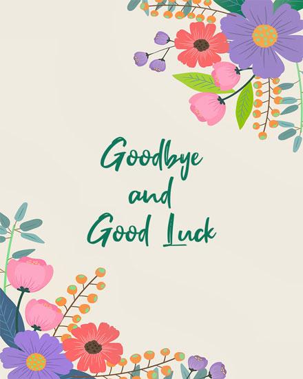 farewell card floral goodbye