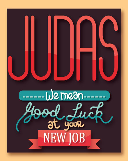 farewell card judas