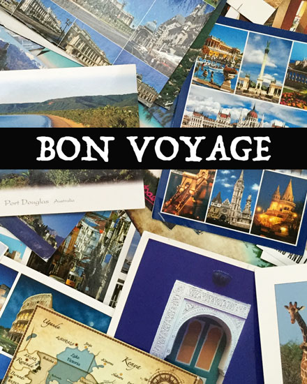 farewell card postcards bon voyage