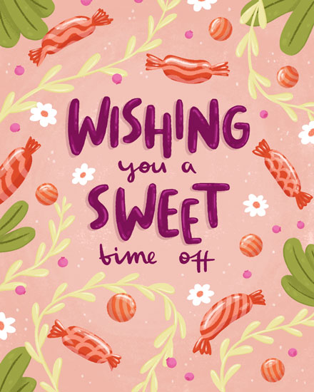 farewell card wishing you a sweet time off