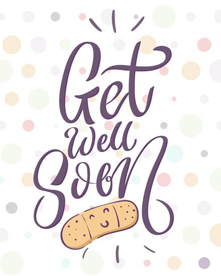 get well soon card get well bandaid