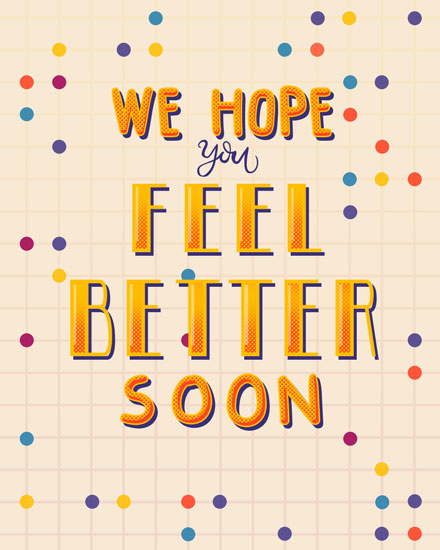 get well soon card we hope you feel better soon