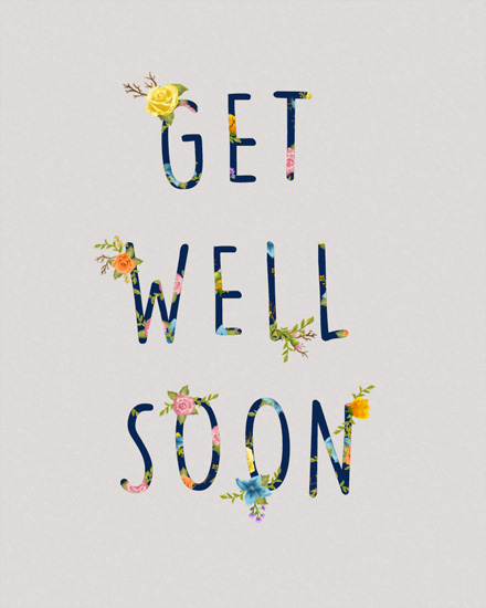 get well soon card floral get well soon