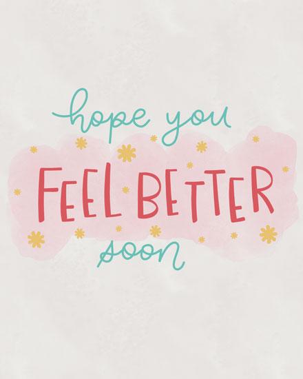 get well soon card hope you feel better soon