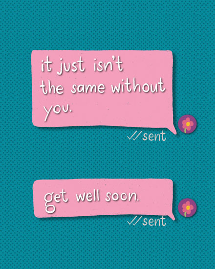 get well soon card text messages