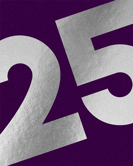 birthday card 25th milestone