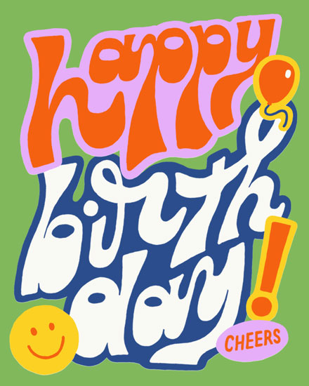 happy birthday card happy birthday groovy cheers