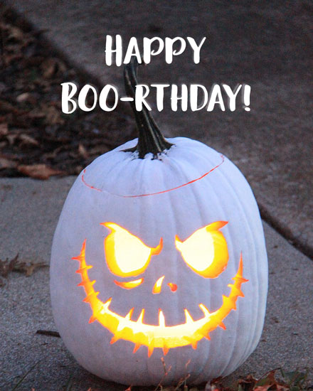 happy birthday card halloween