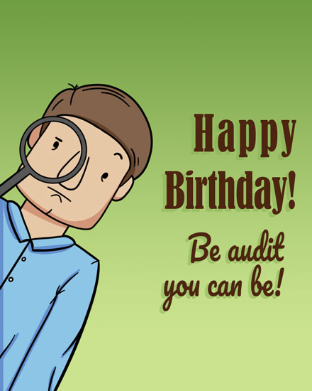happy birthday card audit you can be