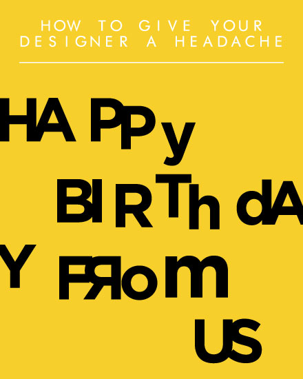 happy birthday card designer headache