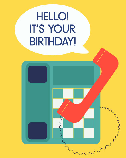 happy birthday card hello birthday
