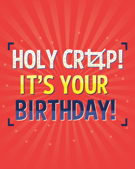happy birthday card holy crop birthday