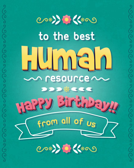 happy birthday card best human resource