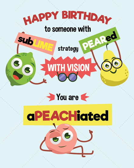 happy birthday card marketing fruit puns