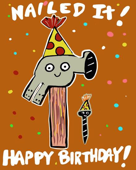 birthday card nailed it happy birthday