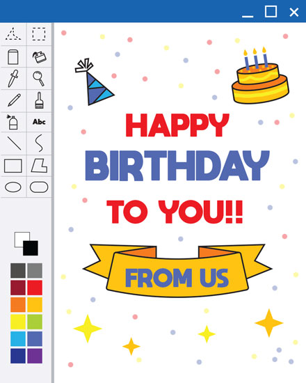 happy birthday card photoshop layout
