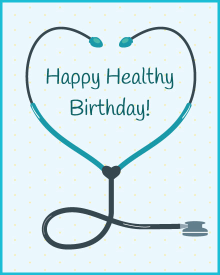 happy birthday card stethoscope