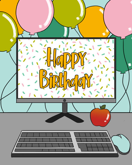 happy birthday card teacher desktop