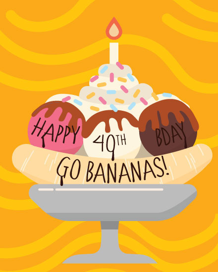 happy birthday card banana split 40