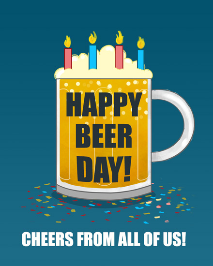 happy birthday beerthday beer mug
