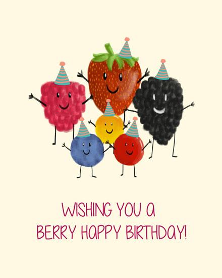 happy birthday card wishing you a berry happy birthday