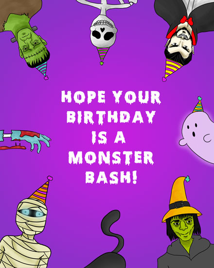 happy birthday monster bash