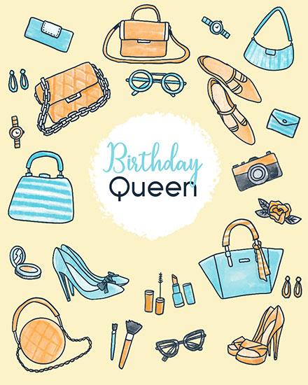 birthday card birthday queen women accessories