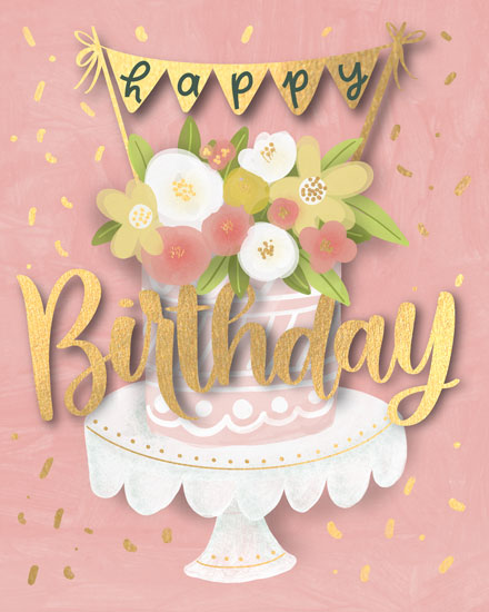 birthday card cake banner happy birthday