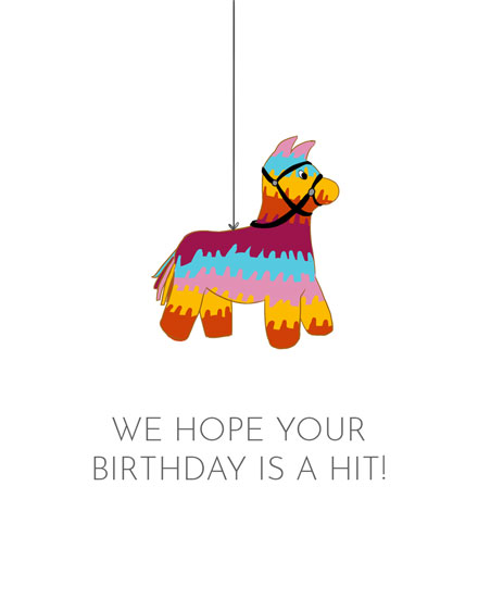happy birthday card colorful pinata